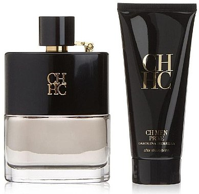 Carolina Herrera CH Men Prive - Комплект (edt/100ml + ash/balm/100ml) — снимка N2
