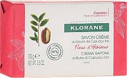 Парфюмерия и Козметика Сапун - Klorane Cupuacu Hibiscus Flower Cream Soap