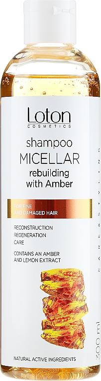 Мицеларен шампоан за коса с екстракт от кехлибар - Rebuilding Micellar Shampoo With Amber — снимка N1