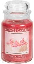 Парфюми, Парфюмерия, козметика Свещ ароматна - Village Candle Cherry Vanilla Swirl
