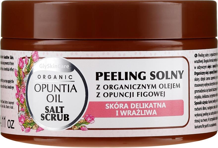 Солен скраб за тяло с органично масло от кактусова смокиня - GlySkinCare Opuntia Oil Salt Scrub