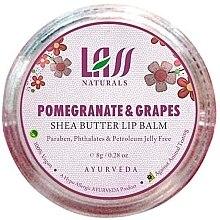 """Парфюми, Парфюмерия, козметика Балсам за устни """"Нар и грозде"""" - Lass Naturals Pomegranate & Grapes Shea Butter Lip Balm"""