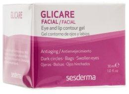 Парфюмерия и Козметика Гел за контура около очите и устните - SesDerma Laboratories Glycare Eye and Lip Contour Gel