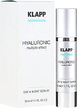 Парфюмерия и Козметика Дневен и нощен хиалуронов лифтинг серум за лице - Klapp Hyaluronic Multiple Effect Day & Night Serum