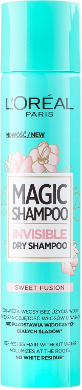 Сух шампоан за коса - L'Oreal Paris Magic Shampoo Invisible Dry Shampoo Sweet Fusion