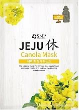 Парфюмерия и Козметика Хидратираща памучна маска за лице с масло от канола - SNP Jeju Rest Canola Mask