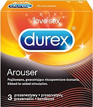 Парфюми, Парфюмерия, козметика Оребрени презервативи, 3 бр. - Durex Arouser