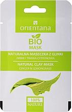 Парфюмерия и Козметика Глинена маска за комбинирана кожа с джинджифил и китайски лимонник - Orientana (хартиена опаковка)