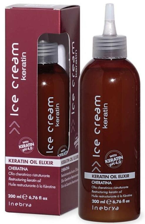 Еликсир за коса с кератин - Inebrya Ice Cream Keratin Oil Elixir