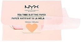 """Парфюми, Парфюмерия, козметика Матиращи листчета за лице """"Tea Tree"""" - NYX Professional Makeup Blotting Paper"""