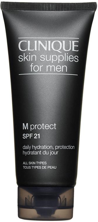 Овлажняващ защитен крем-гел за мъже - Clinique Skin Supplies For Men M Protect SPF21 — снимка N1
