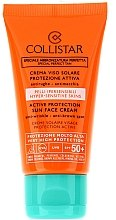"Парфюми, Парфюмерия, козметика Слънцезащитен крем за лице ""Активна защита"" - Collistar Active Protection Sun Face Cream SPF 50+"