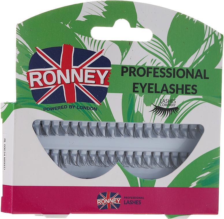 Комплект мигли на снопчета, 10,12,14 мм - Ronney Professional Eyelashes 00034