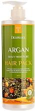 Парфюмерия и Козметика Маска за увредена коса с арганово масло, екстракт от къна и меден пептид - Deoproce Argan Silky Moisture Hair Pack