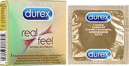 Парфюмерия и Козметика Презервативи, 3 бр. - Durex Real Feel