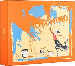 Парфюмерия и Козметика Moschino I Love Love - Комплект (тоал. вода/50ml + лос. за тяло/100ml + душ гел/100ml)