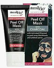 Парфюмерия и Козметика Ексфолираща маска за лице с въглен - Derma V10 Deep Cleansing Peel Off Charcoal Mask