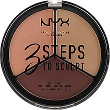 Парфюмерия и Козметика Палитра за контуриране - NYX Professional Makeup 3 Steps To Sculpting Palette