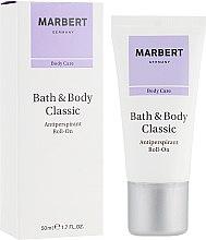 Парфюмерия и Козметика Рол-он дезодорант-антиперспирант - Marbert Bath & Body Classic Antiperspirant Roll-On