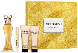 Парфюми, Парфюмерия, козметика Paris Hilton Gold Rush - Комплект (парф. вода/100ml + парф. вода/6ml + душ гел/90ml + лосион за тяло/90ml)