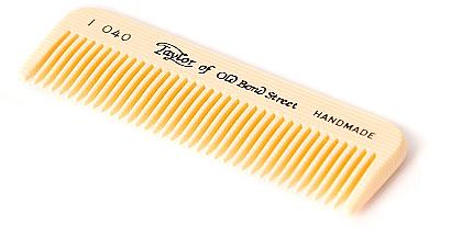 Гребен за коса, 8 см, слонова кост - Taylor of Old Bond Street Moustache Comb Imitation Tortoise Shell — снимка N1