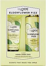 Парфюмерия и Козметика Комплект - I Love Signature Hand & Body Duo Elderflower Fizz (крем за ръце/100ml + душ гел/360ml)