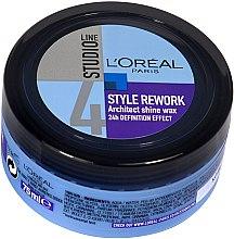Парфюмерия и Козметика Восък за оформяне на косата - L'Oreal Paris Studio Line Style Rework Architect Shine Wax