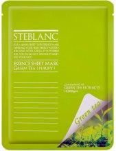 Парфюмерия и Козметика Маска за лице - Steblanc Essence Sheet Mask Green Tea