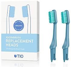 Парфюмерия и Козметика Сменяеми глави за четка за зъби, средна твърдост, сини - TIO Toothbrush Medium