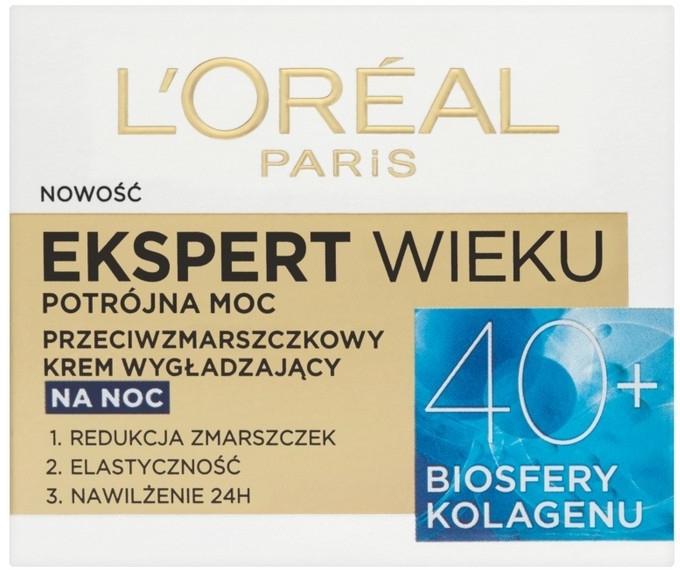 Нощен крем за лице - L'Oreal Paris Age Specialist Expert Night Cream 40+