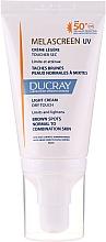 Парфюмерия и Козметика Лек крем против пигментни петна за нормална и комбинирана кожа - Ducray Melascreen UV Light Cream SPF 50+