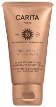 Парфюмерия и Козметика Слънцезащитен крем за лице SPF 30 - Carita Progressif Anti-Age Solaire Protecting And Moisturising Sun Cream For Face