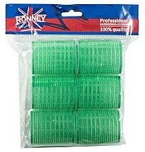 Парфюмерия и Козметика Велкро ролки за коса 48/63, зелени - Ronney Professional Velcro Roller