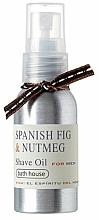 Парфюмерия и Козметика Bath House Spanish Fig and Nutmeg - Масло за бръснене