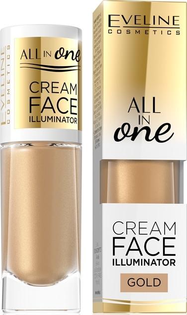Кремообразен хайлайтър - Eveline Cosmetics All In One Cream Face Illuminator
