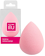 Парфюмерия и Козметика Гъба за грим, розова - Ilu Sponge Raindrop Pink