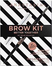 Парфюмерия и Козметика Комплект за вежди - Anastasia Beverly Hills Better Together Brow Kit Soft Brown (молив/0.08g + гел/2.5g)