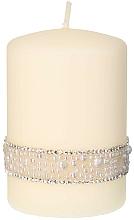 Парфюмерия и Козметика Декоративна свещ, кремава, 7x14 см - Artman Crystal Pearl