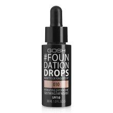 Парфюми, Парфюмерия, козметика Фон дьо тен с лека текстура - Gosh Foundation Drops SPF10