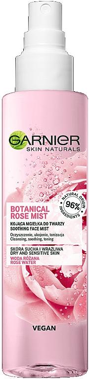 Успокояващ спрей за лице - Garnier Skin Naturals Botanical Rose Mist