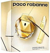 Парфюми, Парфюмерия, козметика Paco Rabanne Lady Million Traveler Exclusive - Комплект (edp/80ml + edp/10ml)