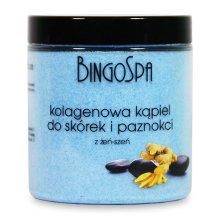 Парфюмерия и Козметика Соли за кожички и нокти с колаген и женшен - BingoSpa Collagen Bath For Cuticles And Nails With Ginseng