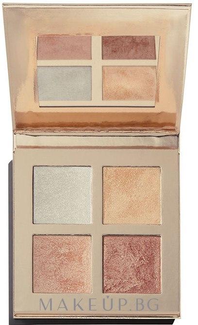 Палитра хайлайтъри - Makeup Revolution Face Quad — снимка Incandescent