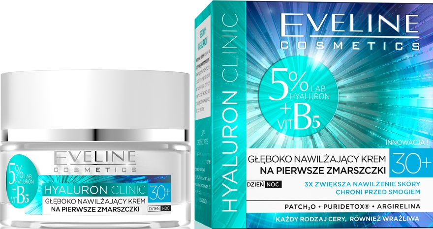 Крем за лице - Eveline Cosmetics Hyaluron Clinic 30+