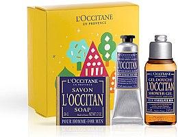 Парфюмерия и Козметика L'Occitane Pour Homme - Комплект (душ гел/75ml + афтър. балсам/30ml + сапун/50g)