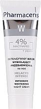 Парфюмерия и Козметика Избелващ крем за лице - Pharmaceris Melacyd Intense Whitening Night Face Cream
