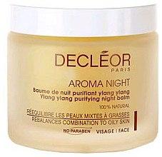 Парфюми, Парфюмерия, козметика Нощен балсам за комбинирана и мазна кожа на лицето - Decleor Aroma Night Ylang Ylang Purifying Night Balm (Salon Product)
