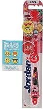 Парфюми, Парфюмерия, козметика Детска четка за зъби Step 3 (6-9) мека, папагал, усмивка със сърца - Jordan