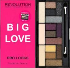 Парфюми, Парфюмерия, козметика Палитра сенки за очи, 15 цвята - Makeup Revolution Pro Looks Big Love Palette