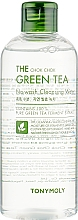 Парфюмерия и Козметика Хидратираща почистваща вода за лице със зелен чай - Tony Moly The Chok Chok Green Tea No-Wash Cleansing Water